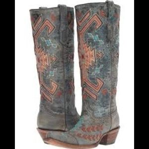 Tall corral Aztec boots